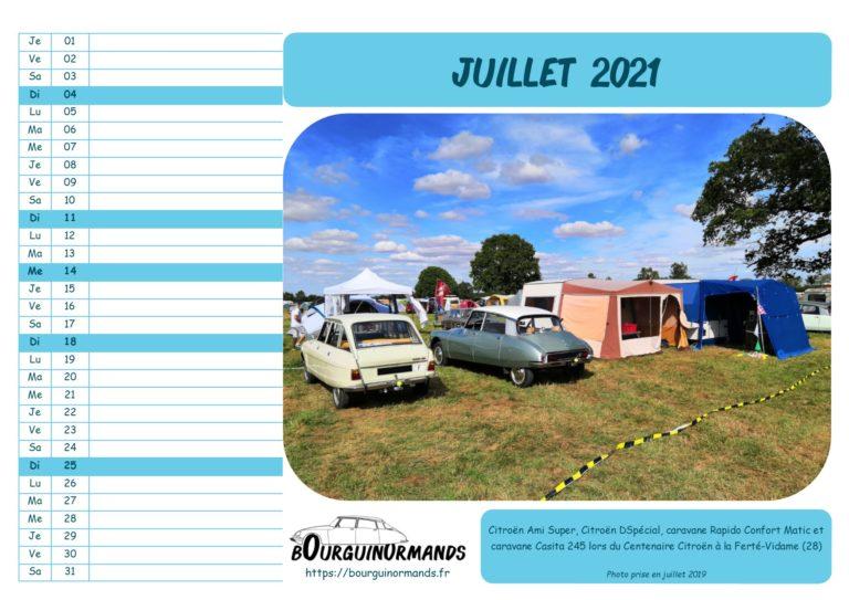 calendrier juillet 2021